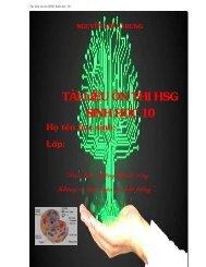 Tài liệu ôn thi HSG môn sinh 10 chuyên sâu (tích hợp kiến thức hóa học)
