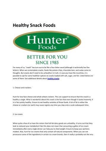 6 healthy snacks