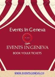 Evenement Geneve Aujourd'hui & Spectacle Geneve