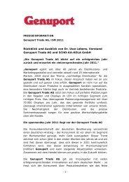 Rückblick und Ausblick von Dr. Uwe Lebens, Vorstand ... - genuport.de