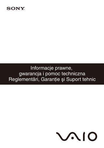 Sony VPCX11Z1E - VPCX11Z1E Documenti garanzia Rumeno