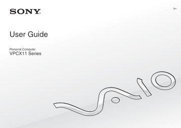 Sony VPCX11Z1E - VPCX11Z1E Istruzioni per l'uso Inglese