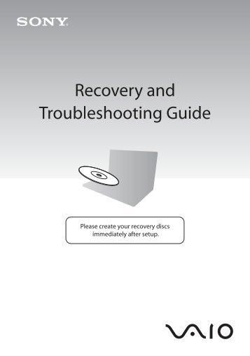Sony VPCX11Z1E - VPCX11Z1E Guida alla risoluzione dei problemi Inglese