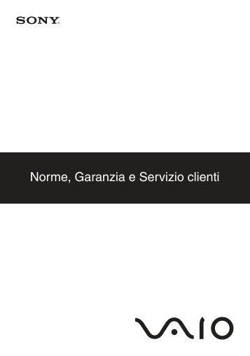 Sony VPCX11Z1E - VPCX11Z1E Documenti garanzia Italiano
