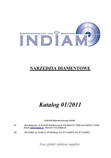 NARZĘDZIA DIAMENTOWE Katalog 01/2011 - INDIAM ...
