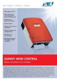 Sunny Mini Central - SMC 9000TL / SMC 10000TL / SMC 11000TL
