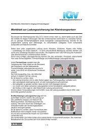 Merkblatt zur Ladungssicherung bei Kleintransportern - IGV