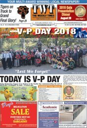 The Weekly Times - TWT - 15th August 2018