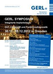 GERL. SYMPOSIUM 30.11.- 02.12.2012 in Dresden