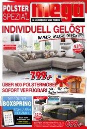 Polster Spezial - immer mega-günstig! mega Möbel in Schwandorf und Weiden