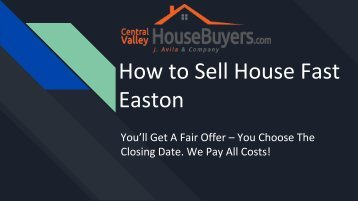 How to Sell House Fast Hanford – Central Valley House Buyer