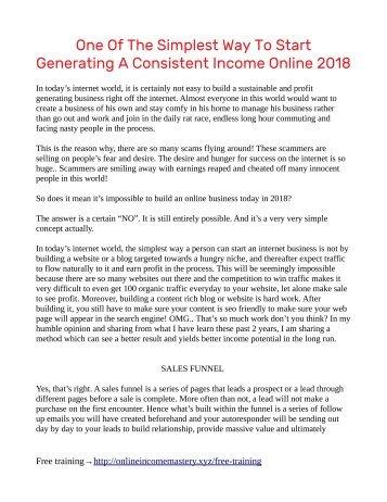 Simplest Way To Make Money Online In 2018