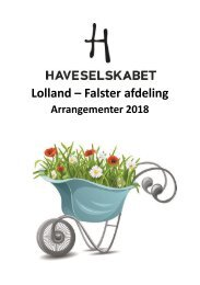 Lolland Falster Program 2018