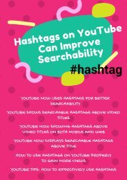 Hashtags on YouTube Can Improve Searchability