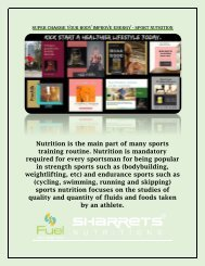 Super Charge Your Body Improve Energy - Sport Nutrition