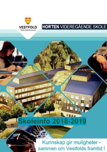 Skoleinfoheftet 2018-2019
