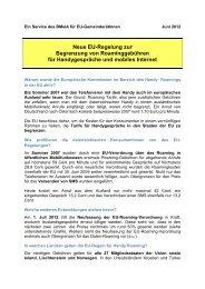 Neue Eu-Regelung zur Begrenzung von Roaminggebühren für ...