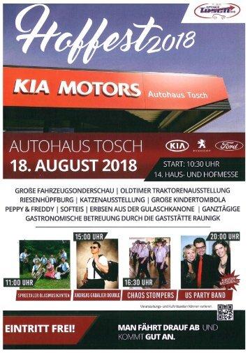 Hoffest Autohaus Tosch 2018