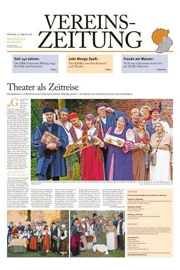 Vereinszeitung für die Eifel - August 2018