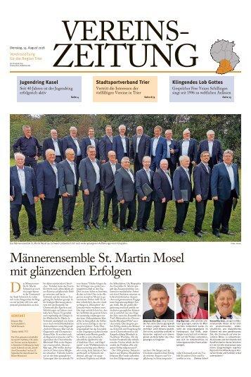 Vereinszeitung für die Region Trier - August 2018