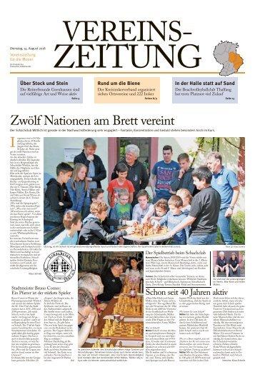 Vereinszeitung für die Mosel - August 2018