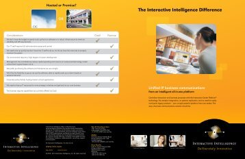 The Interactive Intelligence Difference