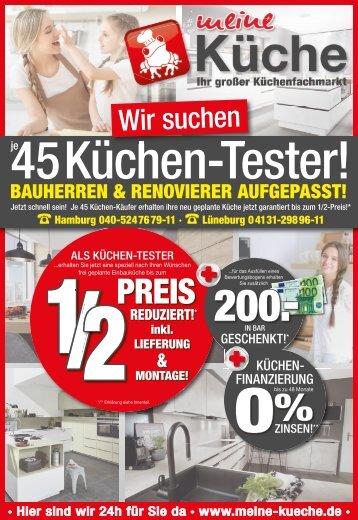 Meine Küche Hamburg und Lüneburg suchen Küchentester