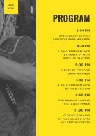 Yellow Guitarist Concert Program - Page 2