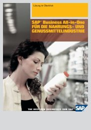 SAP® Business All-in-One FÜR DIE NAHRUNGS- UND ... - Innovabee