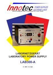 labornetzgerät laboratory power supply lab300-a - innotec-ps.de