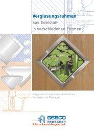 Verglasungsrahmen - GESCO metall GmbH
