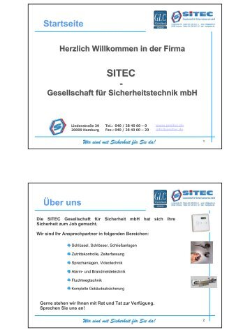- Startseite Über uns - Sitec - Gesellschaft für Sicherheitstechnik mbH