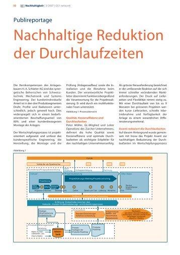 Nachhaltige Reduktion der Durchlaufzeiten - Inova