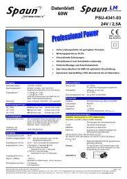Datenblatt 60W PSU-4341-03 24V / 2,5A - inpotron Schaltnetzteile ...