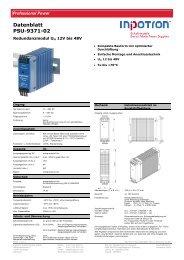 Datenblatt PSU-9371-02 - inpotron  Schaltnetzteile GmbH