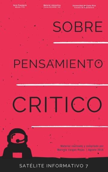 [07] SATÉLITE INFORMATIVO_ Sobre el pensamiento crítico