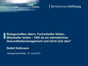 Vortrag Detlef Hollmann - GewiNet