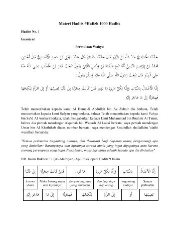 Materi Hafidz 1000 Hadits 1-50 NEW