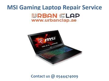 MSI Gaming Laptop Service
