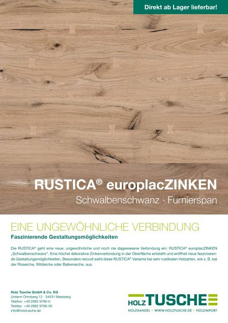 RUSTICA® europlacZINKEN