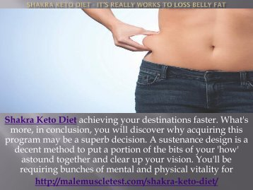 Shakra Keto Diet - It's Really Works To