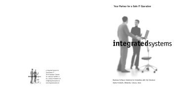Brochure Empresa - is Integrated Systems AG