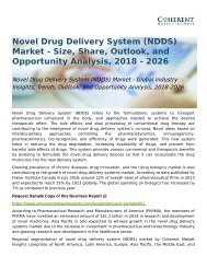 Novel Drug Delivery System (NDDS) Market Opportunity Analysis, 2018-2026