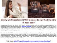 Skinny Me Chocolate - 100% Sugar Free Chocolate to Stay Healthy & Fit!