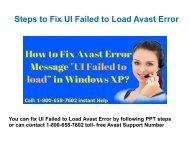 Call 1-800-658-7602 to Fix UI Failed to Load Avast Antivirus