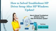 HP Driver Setup After HP Windows Update