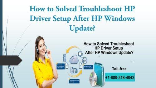 HP Driver Setup After HP Windows Update