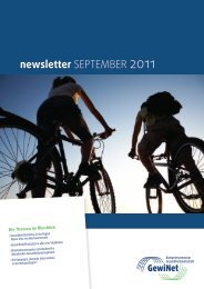 Newsletter September 2011 - GewiNet
