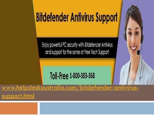 Reliable Helpline  Bit defender Antivirus Tech Support Phone Number