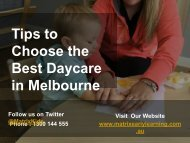Tips to Choose the Best Daycare in Melbourne